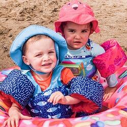 Kids at Lake